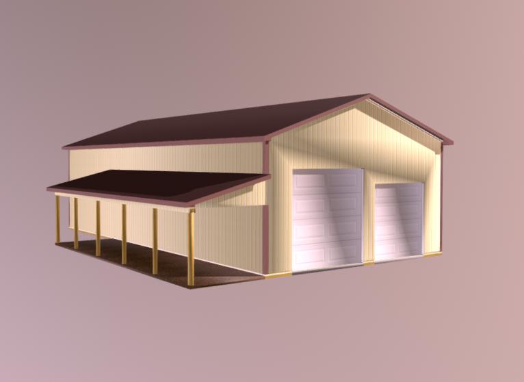 DIY Pole barn model