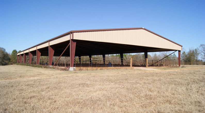 Rodeo arena pavilion
