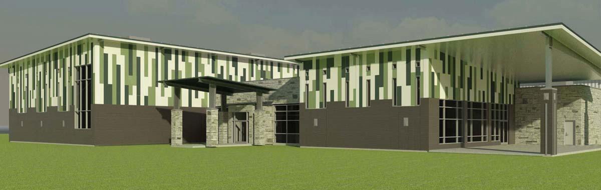 Fort Worth Texas Community Center - Encore Steel Buildings