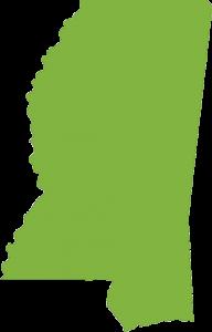 outline of mississippi