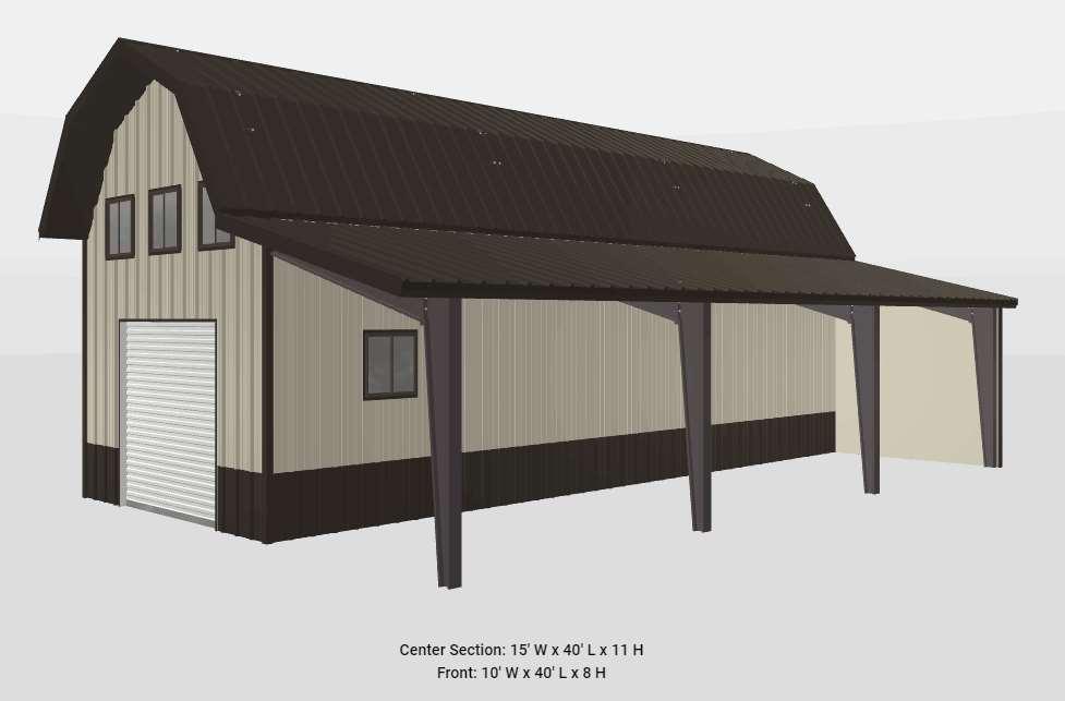 15x40x11-single-barn-garage-front-lean
