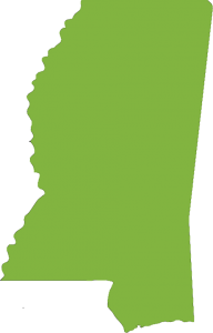 outline of mississippi