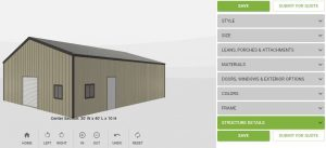 SMALL METAL BUILDING SPECIAL 30′ x 40′ x 10′