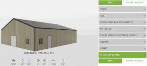 MEDIUM METAL BUILDING SPECIAL 40′ x 50′ x 10′