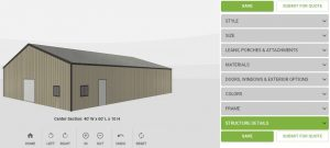 LARGE METAL BUILDING SPECIAL 40′ x 60′ x 10′