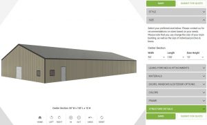 EXTRA LARGE METAL BUILDING SPECIAL 50′ x 100′ x 10′
